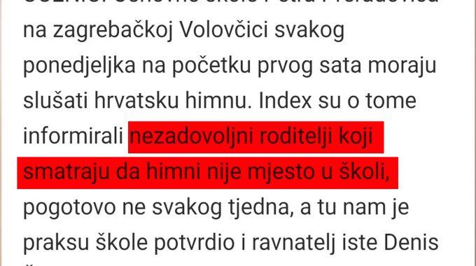 Hrvatski Apsurd: Roditelji Se žalili Na Puštanje Hrvatske Himne U Osnovnoj školi U Zagrebu!?