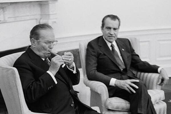 Nepoštovanje Josipa Broza prema Richardu Nixonu